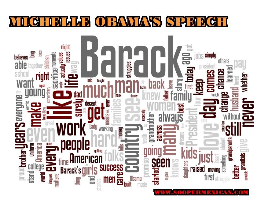 michelle obama talk text
