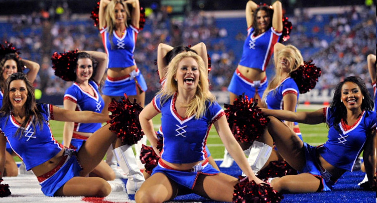 Can Buffalo bills cheerleaders words... super