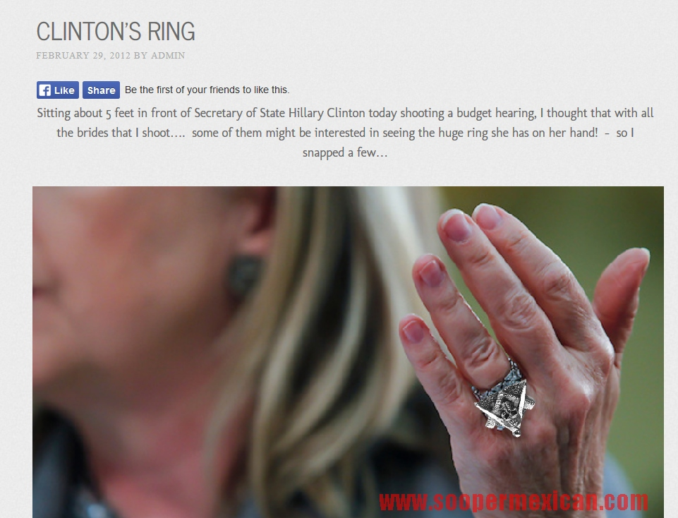 Nice Wedding Ring You Got There Mrs Hillary