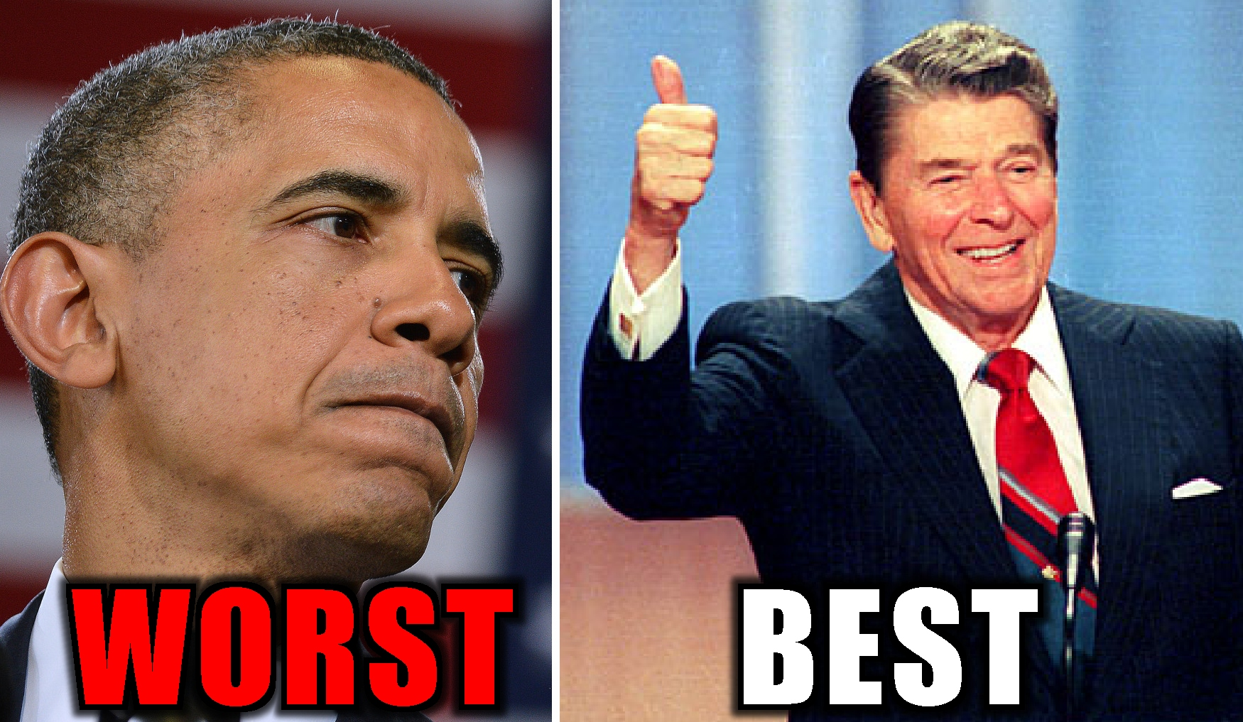 best worst president-OBAMA-REAGAN