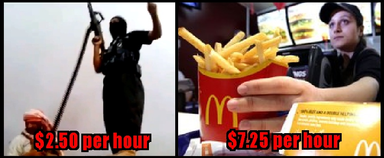 isis mcdonalds wages