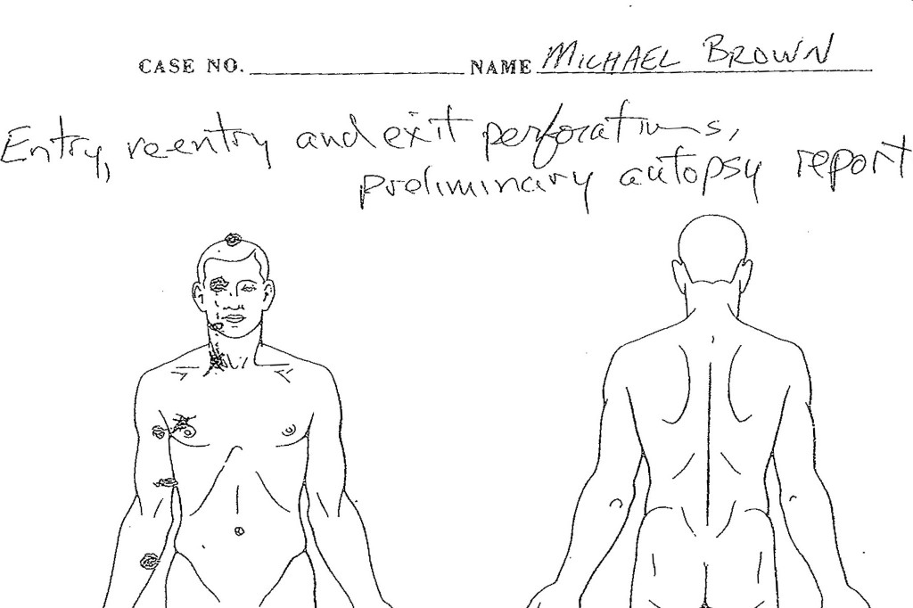 michael brown autopsy