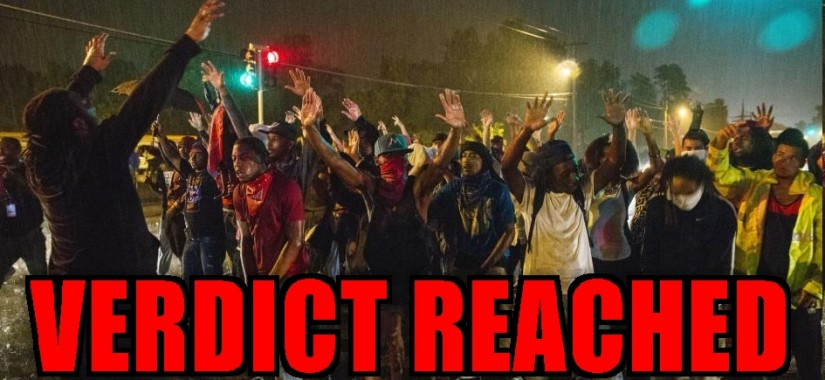 Ferguson hands up-VERDICT