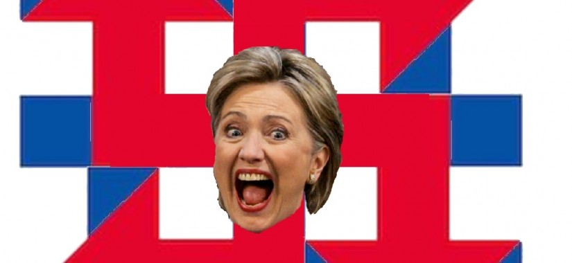 Hillary logo swastika-title