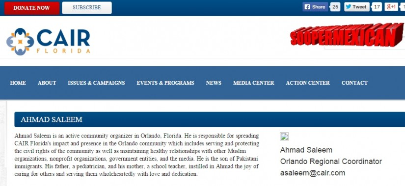 ahmed saleem CAIR florida-head