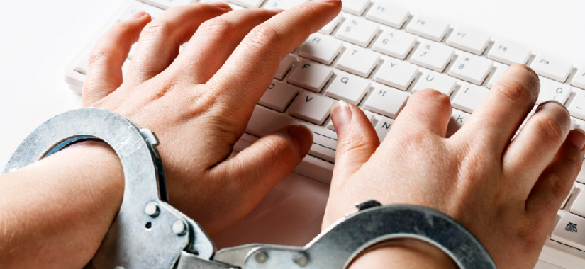 free speech hands tied cuffs keyboard thoughtcrime-thumb