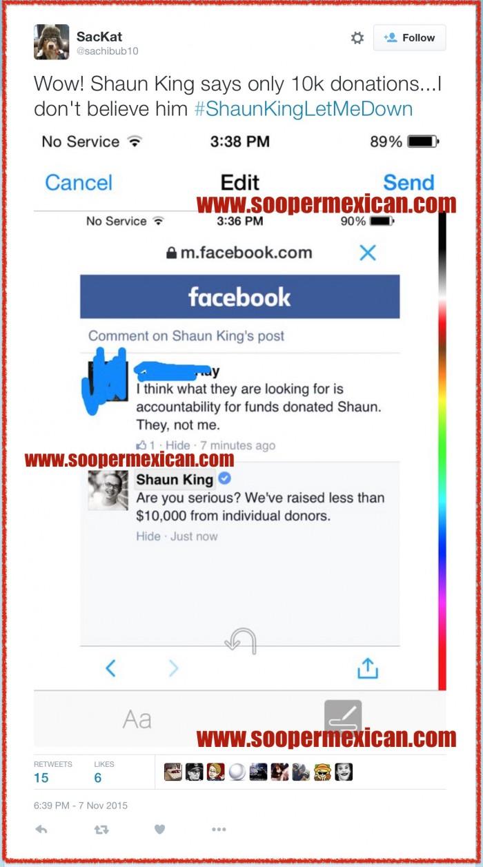 shaun king 10000 donations