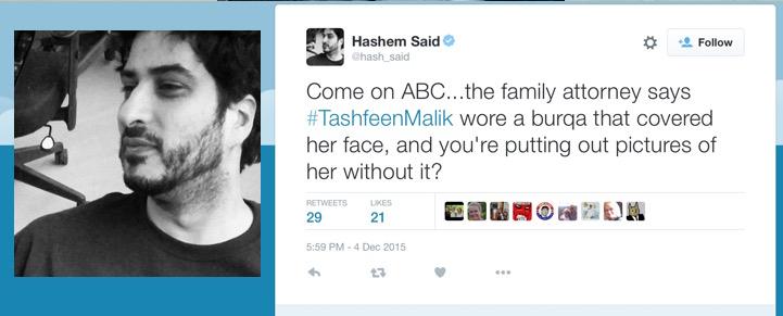 hashem said burqa tashfeen malik