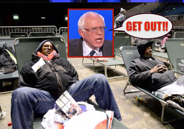 BERNIE SANDERS HOMELESS