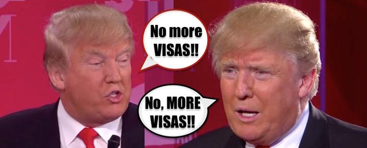 TRUMP VERSUS TRUMP visas