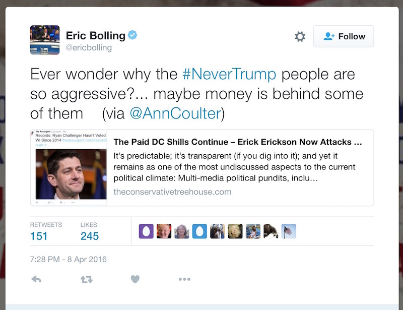 eric bolling conspiracy