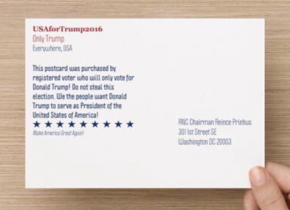 trump postcard to rnx
